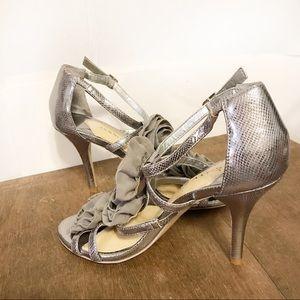 Gianni Bini Peep Tie Slingback High Heels Size 6.5